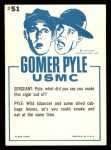 1965 Fleer Gomer Pyle #51   Do You Always Turn Green Back Thumbnail