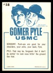 1965 Fleer Gomer Pyle #18   While You're Down There Pyle Back Thumbnail