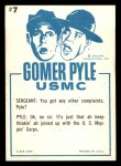 1965 Fleer Gomer Pyle #7   Pyle Only You Could Get Mop Back Thumbnail