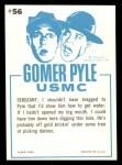 1965 Fleer Gomer Pyle #56   I Said I'd Find Us Water Back Thumbnail