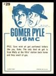 1965 Fleer Gomer Pyle #29   Here Just Take Whiff Back Thumbnail
