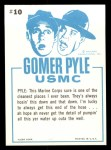 1965 Fleer Gomer Pyle #10   On this Entire Base We Got Back Thumbnail