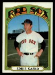 1972 Topps #218  Eddie Kasko  Front Thumbnail