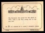 1964 Topps JFK #9   Kennedy Clan 1934 Back Thumbnail