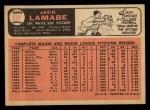 1966 Topps #577  Jack Lamabe  Back Thumbnail