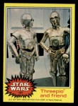 1977 Topps Star Wars #187   Threepio and friend Front Thumbnail