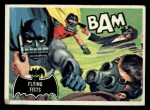 1966 Topps Batman Black Bat #44   Flying Fists Front Thumbnail