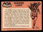 1966 Topps Batman Black Bat #55   Hidden Loot Back Thumbnail