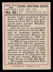 1966 Leaf Good Guys Bad Guys #45  General George Custer  Back Thumbnail