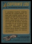 1976 Topps Star Trek #63   The Monster Called Nomad Back Thumbnail