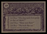 1973 Topps You'll Die Laughing #57   The doctor says its poison ivy Back Thumbnail