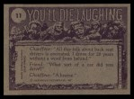1973 Topps You'll Die Laughing #11   My boy I don't think Back Thumbnail