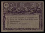 1973 Topps You'll Die Laughing #29   Psst Wanna buy good watch? Back Thumbnail