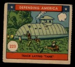 1941 W.S. Corp Defending America #223   Track Laying Tank Front Thumbnail