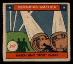 1941 W.S. Corp Defending America #247   Searchlight Spots Planes Front Thumbnail