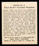 1931 Johnson Candy Dick Tracy R41 #134   Hank Steele's Caretaker Surpri Back Thumbnail