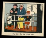 1931 Johnson Candy Dick Tracy R41 #143   On the High Seas Front Thumbnail