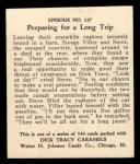 1931 Johnson Candy Dick Tracy R41 #127   Preparing for Long Trip Back Thumbnail