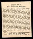 1931 Johnson Candy Dick Tracy R41 #131   Safe From the Avengers Back Thumbnail