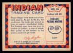 1959 Fleer Indian #56   Pueblo Village Back Thumbnail