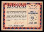 1959 Fleer Indian #28   Indian in winter dress Back Thumbnail