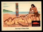 1959 Fleer Indian #43   Carving totem pole Front Thumbnail