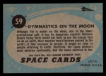 1957 Topps Space #59   Gymnastics on Moon  Back Thumbnail
