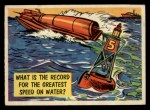 1957 Topps Isolation Booth #49   Greatest Speed on Water Front Thumbnail