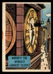1957 Topps Isolation Booth #33   World's Largest Clock Front Thumbnail