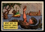 1957 Topps Isolation Booth #77   Greatest Single Day's Rainfall Front Thumbnail