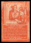 1957 Topps Isolation Booth #66   World's Longest Title Fight Back Thumbnail