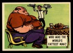 1957 Topps Isolation Booth #87   World's Fattest Man Front Thumbnail