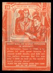 1957 Topps Isolation Booth #38   Worst Typhoon in History Back Thumbnail