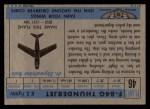 1957 Topps Planes #46 BLU  F84-G Thunderjet Back Thumbnail