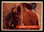 1957 Topps Robin Hood #34   Robin's Victory Front Thumbnail