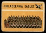 1960 Topps #92   Eagles Team Checklist Front Thumbnail