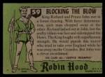 1957 Topps Robin Hood #59   Blocking The Blow Back Thumbnail