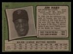 1971 Topps #461  Jim Hart  Back Thumbnail