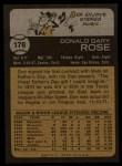 1973 Topps #178  Don Rose  Back Thumbnail