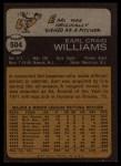 1973 Topps #504 xGAP Earl Williams  Back Thumbnail