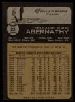 1973 Topps #22  Ted Abernathy  Back Thumbnail