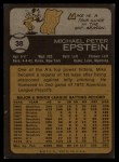1973 Topps #38  Mike Epstein  Back Thumbnail