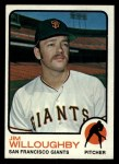 1973 Topps #79  Jim Willoughby  Front Thumbnail