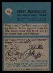 1964 Philadelphia #95  Frank Varrichione   Back Thumbnail