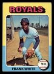 1975 Topps Mini #569  Frank White  Front Thumbnail