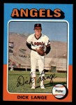 1975 Topps Mini #114  Dick Lange  Front Thumbnail