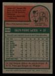 1975 Topps Mini #494  Pete LaCock  Back Thumbnail