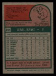 1975 Topps Mini #394  Larvell Blanks  Back Thumbnail