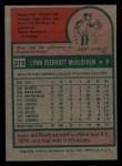 1975 Topps Mini #272  Lynn McGlothen  Back Thumbnail