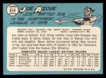 1965 Topps #514  Joe Azcue  Back Thumbnail